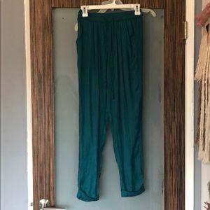 Silky Emerald Zara Joggers